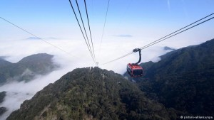 Travel to Vietnam to take a ride on the longest cable car system in the world.