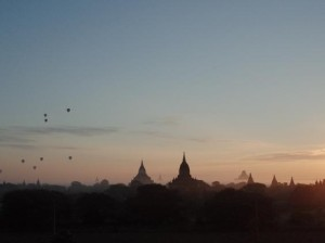 Unmissable: balloons punctuate an early sunrise in Myanmar (Image: Joe Connor)