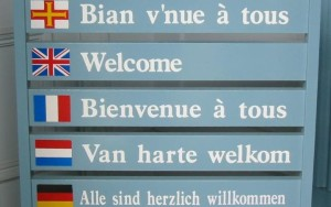 Welcome sign in different languages