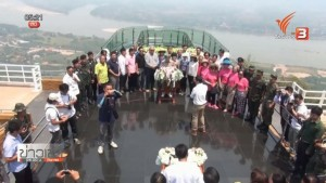 First glass skywalk on cliff by Mekong River opens at Wat Pa Tak Sua