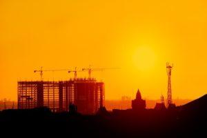 Morning breaks over the rising skyline of Phnom Penh.