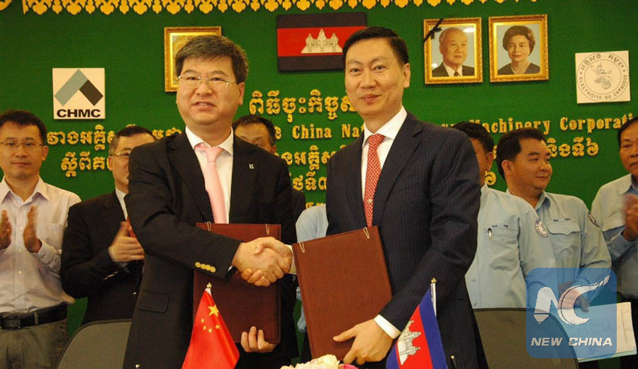 Chinese firm signs deal with Cambodia's electricity supplier